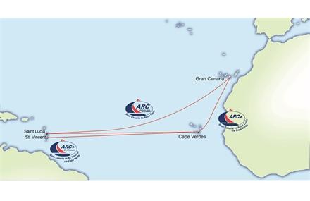 ARC path over the atlantic